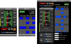Left to Right: SongDasher iPhone Main View, SongDasher iPhone Drum Beat View, SongDasher iPad View.  (PRNewsFoto/Far Out Notions, LLC)