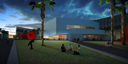 Portman-CMC's proposed rendering for renovating the Fillmore Miami Beach at the Jackie Gleason Theater as part of the Miami Beach Convention Center District redevelopment project. Visit www.PortmanCMCMiamiBeach.com for more information.  (PRNewsFoto/Portman-CMC)