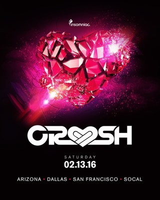 Insomniac Announces Four City Stops And Incredible Lineups For 3rd Annual Crush Valentine Weekend Events, February 13, 2016