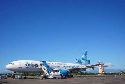 Orbis operates the Flying Eye Hospital (FEH), a fully equipped mobile teaching hospital. On the outside, the plane is like most other aircraft. Inside, it's like no other - it hosts an ophthalmic hospital and teaching facility right on board. Learn more: orbis.org (PRNewsFoto/Orbis)