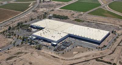 An aerial view of the new Huhtamaki North America manufacturing and distribution center in Goodyear, Ariz. to serve west coast foodservice packaging and retail tableware markets.