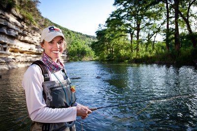 Fly fishing for rainbow trout in New Braunfels is possible year around in the cold trace waters of Canyon Lake flowing into the Guadalupe River. In restricted harvest areas of the river, larger specimens offer great fly fishing adventures.
