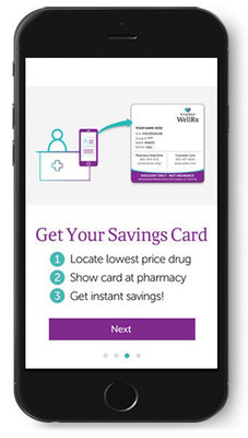The free ScriptSave WellRx prescription savings app available for iOS and Android.
