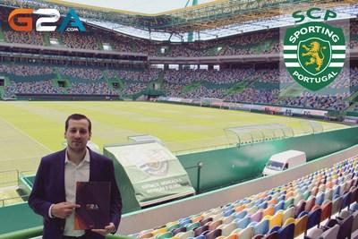 G2A's Sales Co-ordinator, Andre Santos, inside the Jose Avalade Stadium (PRNewsFoto/G2A.com)