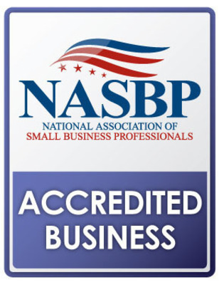 National Association of Small Business Professionals Accredited Business Seal. (PRNewsFoto/The National Association of Small Business Professionals) (PRNewsFoto/NATL. ASSOC. OF SMALL BUS. PROF.)