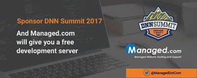 Managed.com will provide a free development server to companies that sponsor DNN Summit at the $299 or more level. The free server may be used by developers to create apps and websites for their customers on technology secured in hardened datacenters. This allows developers the ability to show their customers how their development projects will work in a real-world environment.