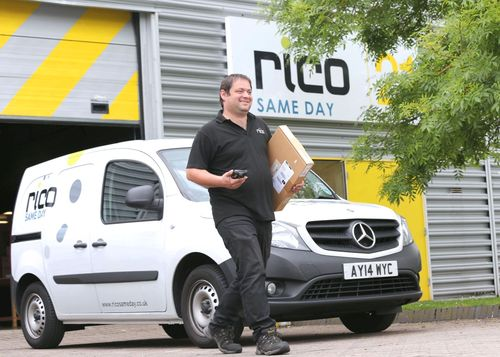 Rico Logistics has awarded Peak-Ryzex the contract to manage the configuration of 850 Motorola MC55 rugged mobile devices which were inherited when Rico took over DHL's Same Day courier business. (PRNewsFoto/Peak-Ryzex)