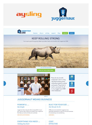 Ann Arbor tech firms Aysling and Juggernaut announce merger and new CRM product. Juggernaut CRM, a tool that helps all types of small to medium-sized businesses get organized and grow revenue, launches today.