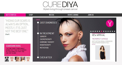 CureDiva Launches the First Ever, Personalized Lifestyle Solutions Online Shop for Women Facing Breast Cancer.  (PRNewsFoto/CureDiva)