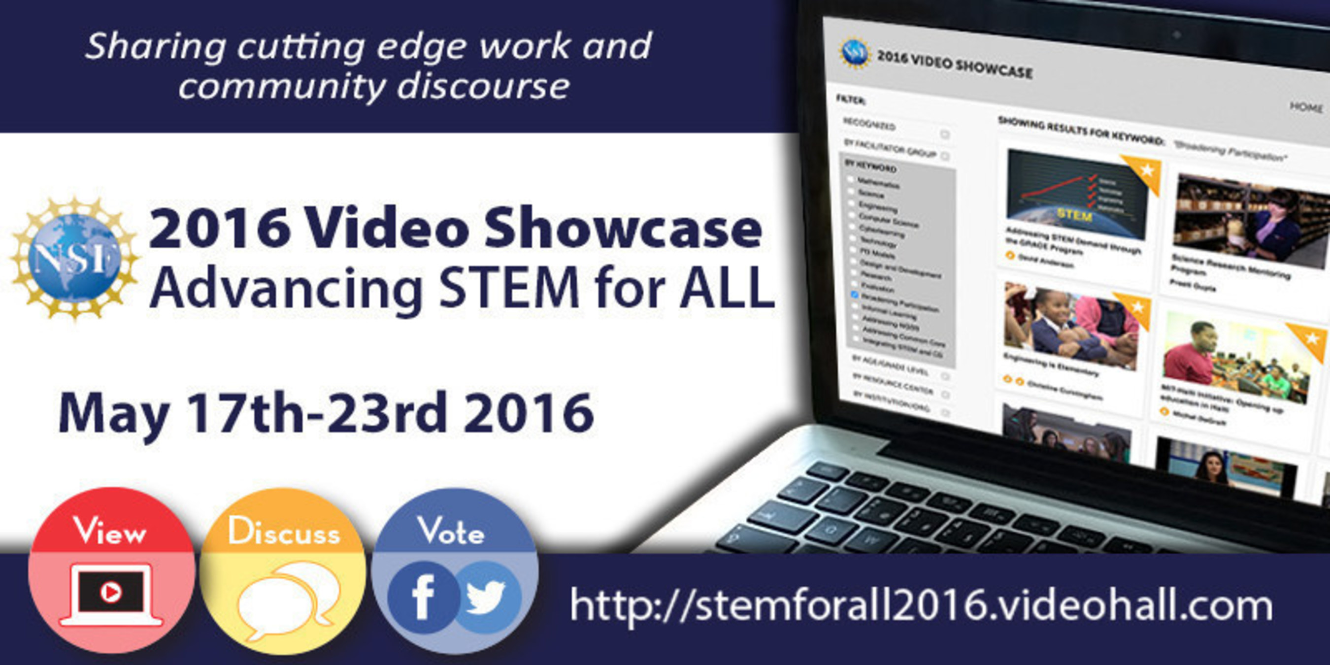 STEM for All Showcase invites public dialogue on innovative education research.