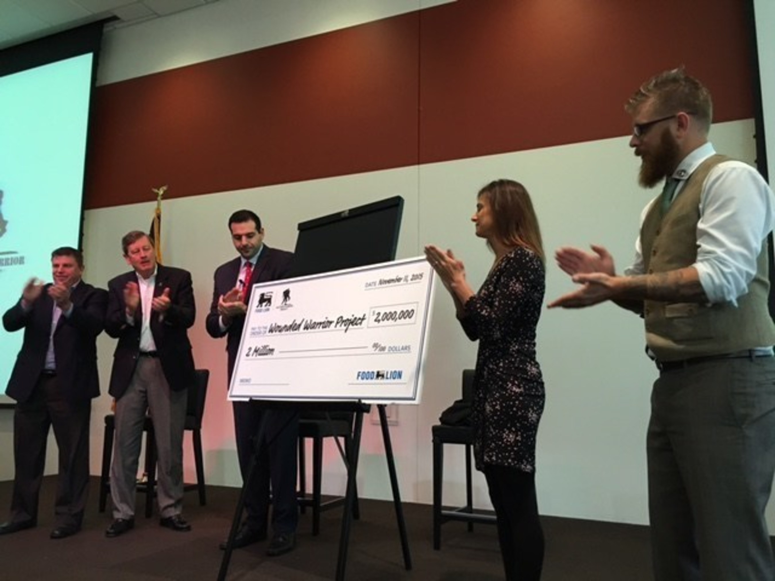 Food Lion Gives Back To Wounded Warrior Project