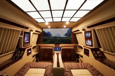 "Interior of Lexani Motorcars' Concept One ""Curve"""