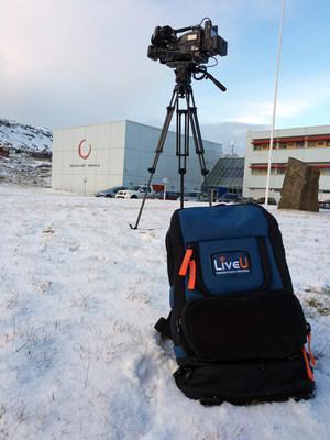 LiveU's LU500 backpack used in The Faroe Islands by KFV (PRNewsFoto/LiveU)