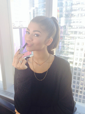 Zendaya, hit singer and actress, named spokesperson for Carmex Moisture Plus(R) -- a fashionable new twist on lip care. The legendary Carmex brand, known for protecting lips and healing skin, recently re-launched the new Carmex Moisture Plus(R) line of fashionable lip balm. The slim, lipstick-style lip balm is now available in vibrant, fashion-inspired designs that align with Zendaya's unique style.  (PRNewsFoto/Carmex)