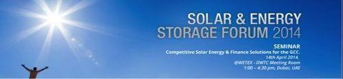 Solar & Energy Storage Forum 2014 (PRNewsFoto/Solar GCC Alliance)