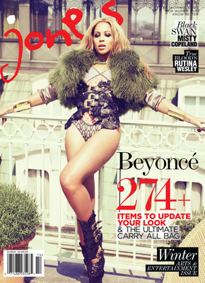 Beyonce Covers Jones Magazine's 1st Annual Winter 2011 Arts & Entertainment Issue