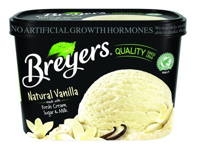 Breyers(R) Now Only Sourcing Milk, Cream From Cows Not Treated With Artificial Growth Hormones