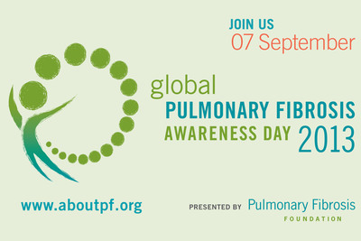 The Pulmonary Fibrosis Foundation announces that the second annual Global Pulmonary Fibrosis Awareness Day will take place on September 7, 2013.  (PRNewsFoto/The Pulmonary Fibrosis Foundation)