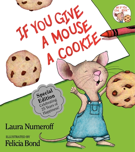 """Three different full-size, hardcover picture books will be offered in Sun-Maid's Snack 'n' Read book offer and sweepstakes, beginning with """"If You Give A Mouse A Cookie."""" A new book title, published by Harper-Collins, will be available every four weeks.  (PRNewsFoto/Sun-Maid )"""
