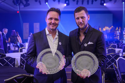 """The Dead Rabbit Wins """"Best American Cocktail Bar"""" and """"World's Best Drinks Selection"""" at the 2014 Tales of the Cocktail's Spirited Awards.  The Dead Rabbit's Sean Muldoon and Jack McGarry Continue to Set the Gold Standard for U.S. Bars as they Champion the Charms of Irish Whiskey. (PRNewsFoto/The Dead Rabbit)"""