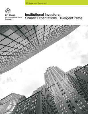 "OFI Global Asset Management, an OppenheimerFunds company, and Pensions & Investments published ""Institutional Investors: Shared Expectations, Divergent Paths,"" a comprehensive study of the attitudes and practices of today's institutional investors."