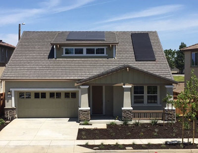 Completed exterior of Pulte Zero Net Energy Prototype Home
