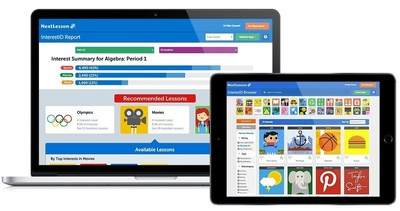 InterestID features a fun, engaging interface for students and an easy way for teachers to discover relevant lessons based on student interests.