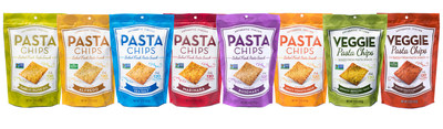 Pasta Chips' full flavor offerings to date.