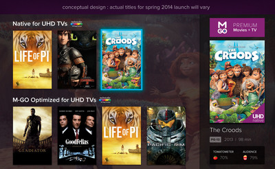 M-GO Lands on Samsung UHD TVs to Deliver Native 4K and 4K Optimized Hollywood Content to Consumers in Early 2014