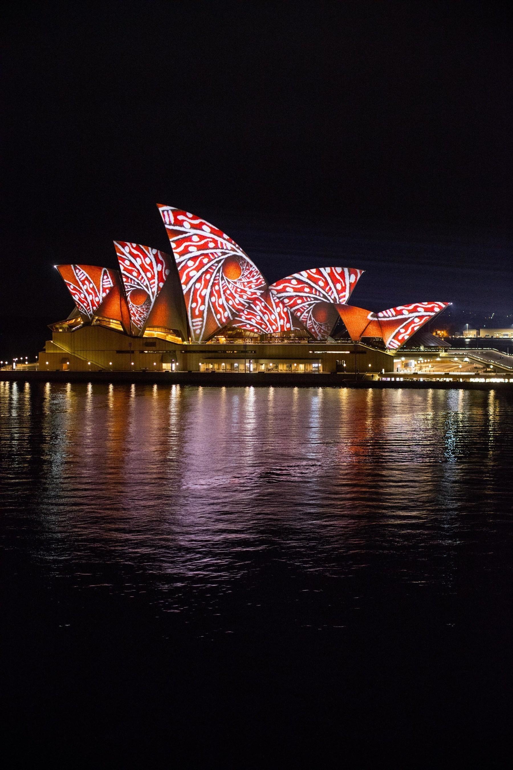 VividSydney_ Songlines_Artist Donny Woolagoodja_credit Destination NSW