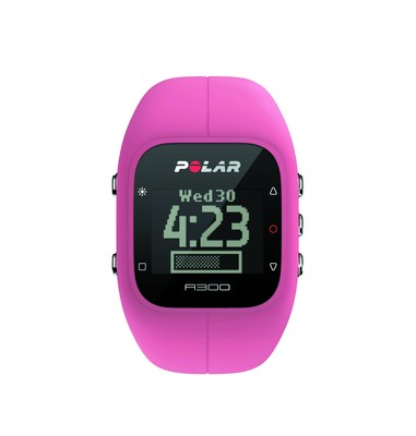 The Polar A300 activity tracker is available in black, white, pink, blue, grey and yellow.
