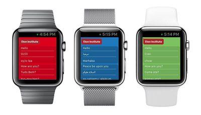 Eton Institute's Language PhraseApps coming soon on smartwatches.