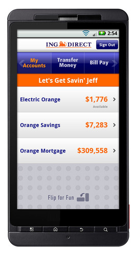 ING DIRECT USA Launches Two Android™ Mobile Applications