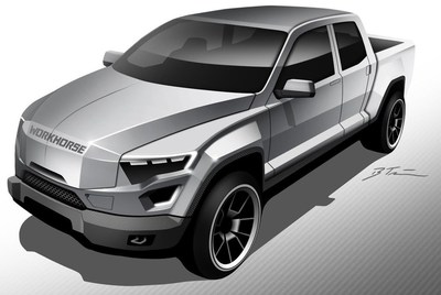 Concept of Workhorse W-15 Electric Pickup Truck with Extended Range