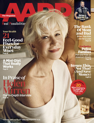 Helen Mirren on the Cover of AARP The Magazine Dec/Jan Issue