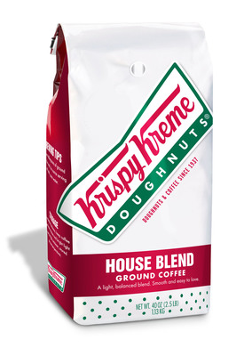 Krispy Kreme House Blend coffee, until now sold primarily in the company's retail shops, is now exclusively available in 40 oz. packages at participating Sam's Clubs.  (PRNewsFoto/Krispy Kreme Doughnut Corporation)