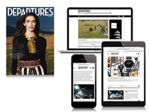 Departures Magazine Online for Platinum Card Members from American Express. Relaunch provides a whole new online experience and elevates the site to the ranks of the world's most influential sources of luxury news, views and inspiration. (PRNewsFoto/Journal International)