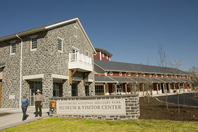The Gettysburg National Military Park Museum and Visitor Center is the first museum in Pennyslvania and only the fourth in the nation to be LEED Gold certified. The facility is operated by the nonprofit Gettysburg Foundation in partnership with the National Park Service. (Bill Dowling/Gettysburg Foundation). (PRNewsFoto/Gettysburg Foundation)