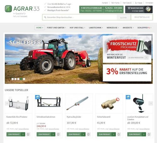 Startup www.agrar33.de helps farmers save time and money on purchases. (PRNewsFoto/eCom33 Gmbh)