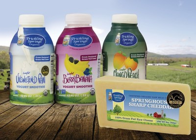 Trickling Springs Organic award winning yogurt smoothies and organic raw milk cheese from our 100% grass fed cows!  Trickling Springs Creamery's plant in Koshkonong MO was awarded the internationally recognized SQF level 2 certification.