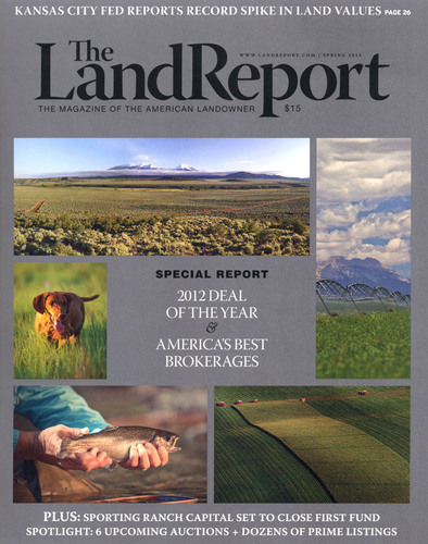 Sale of Montana's Broken O Ranch named 2012 Deal of the Year by The Land Report.  (PRNewsFoto/The Land Report)