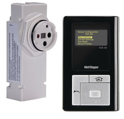WattStopper introduced the FSP-201, a low voltage sensor enabling fully adjustable High/Low/Off control without a power pack when used with 0-10 VDC dim-to-off LED drivers or ballasts that have low voltage auxiliary power outputs. The FSP-201 can also work with a power pack to control other loads. WattStopper FSP-200 series sensors are easy to specify, install and set up. A  handheld wireless configuration tool (FSIR-100) simplifies ladder-free configuration and stores up to six sensor parameter profiles with selectable high and low levels, sensitivity, time delay, and cut off settings.
