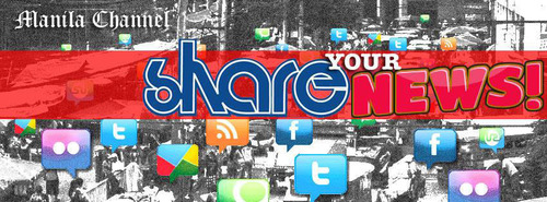 Share your news to Manila Channel through Facebook.  (PRNewsFoto/Manila Channel)