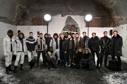 BELSTAFF AW16 'HEADING NORTH' presenting at London Collections Men Group Shot with Frederik Dyhr VP Men's Design (PRNewsFoto/Belstaff) (PRNewsFoto/Belstaff)