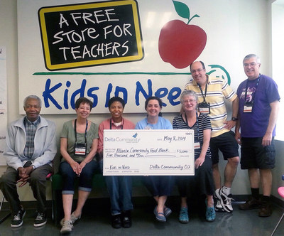 """The Atlanta Community Food Bank's """"Kids in Need"""" Program is among 17 recipients of a 2016 Delta Community Philanthropic Fund award. The organization was also a recipient of a 2014 philanthropic grant, as pictured here."""