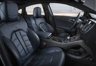 2015 Chrysler 200S Ambassador Blue Leather Interior ...