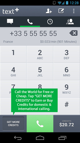 textPlus Free and Cheap International Calling.  (PRNewsFoto/textPlus)