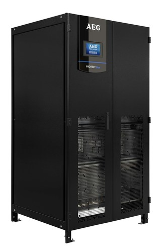 Protect Blue, AEG Power Solutions' flagship UPS for data center, will also be available under UPSaaS TM offering (PRNewsFoto/AEG Power Solutions)