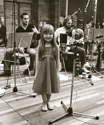 Britain's Got Talent child star Connie Talbot recording in 2007
