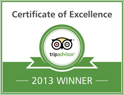 TripAdvisor Award for Excellence - image.  (PRNewsFoto/National Quilt Museum)